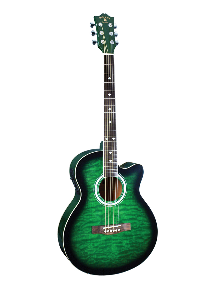 Indiana Madison Acoustic/Electric Guitar Green