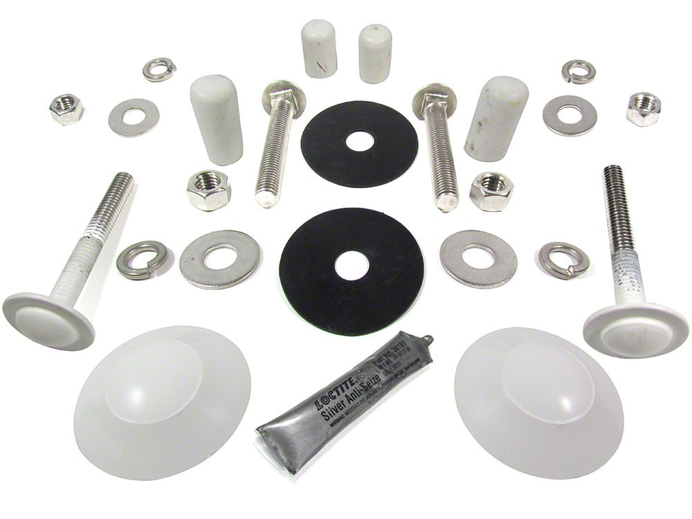 Mounting Kit, Diving Board, Interfab Edge Board, 4 Bolt, Stainless Steel