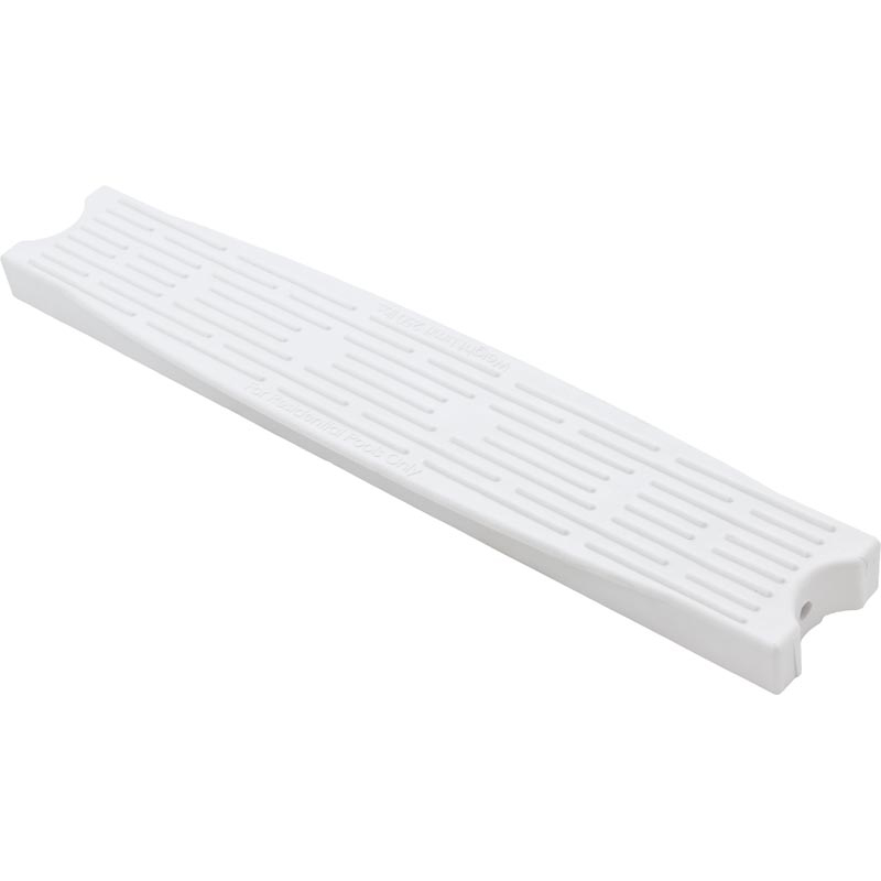 "Ladder Tread, Plastic, Interfab High Impact, White, 1.90"" Rail"