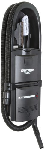 GarageVac Flush Mounted Garage Vacuum - Black