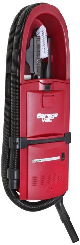 GarageVac Flush Mounted Garage Vacuum - Red