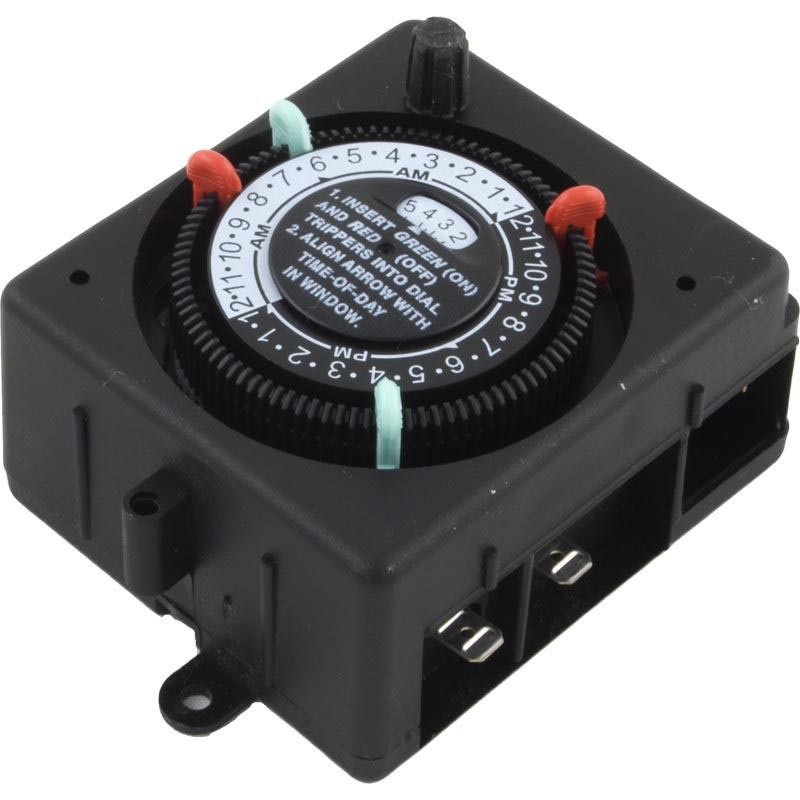 Timer,SPST-125V 24Hr Mechanical 2 On/Off