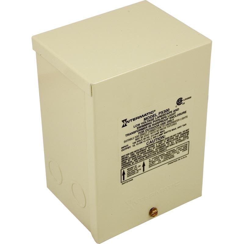 Light Transformer, Intermatic, 300W, 115V to 12-14V, Wall Mount
