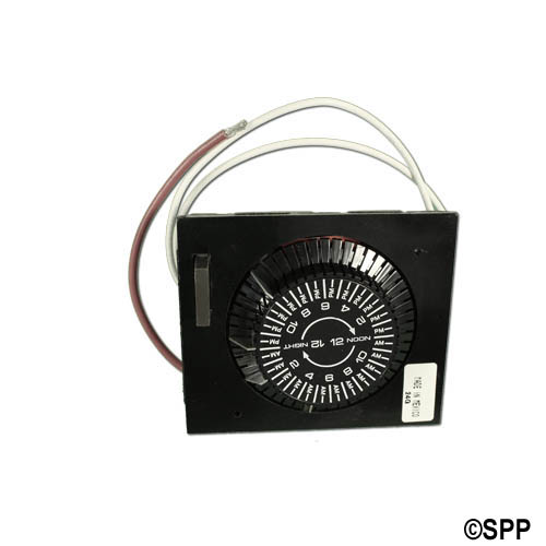 Time Clock, Intermatic, 24HR, 115V, 20A, SPST, Panel Mount