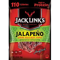 Jack Links 10000008445 Beef Jerky, 2.85 oz, Jalapeno