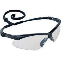 Nemesis V30 Safety Glass, Indoor/Outdoor Anti-Scratch Polycarbonate Lens, Black Nylon Frame