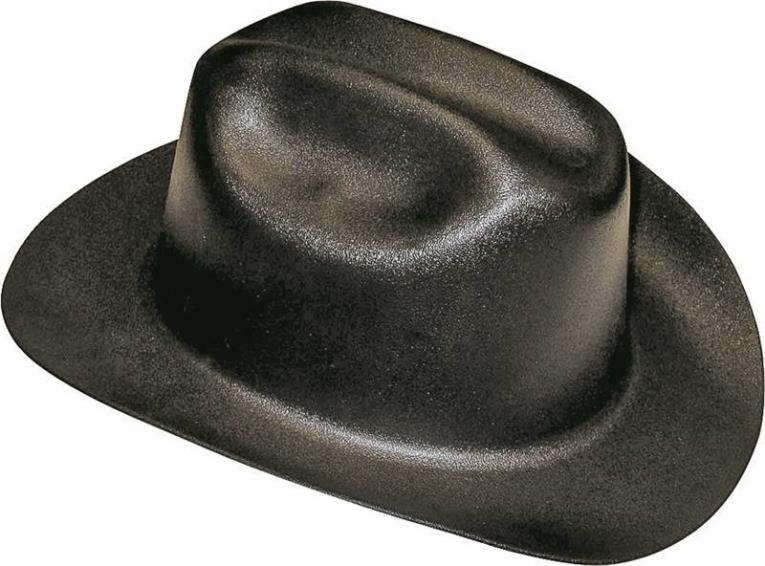 Jackson 3007313 Hard Hat, Western Outlaw, HDPE Blended Plastic, Black
