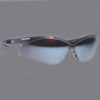 Nemesis V30 Safety Glass, Blue, Mirror Anti-Scratch Polycarbonate Lens, Black Nylon Frame