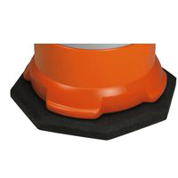 Jackson 3007725 Barrel Base, For Use With 1500 Safety Drum, 25 lb, Recycled Rubber