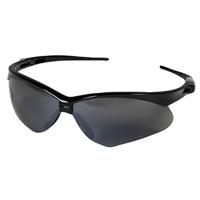Nemesis V30 Safety Glass, Smoke, Mirror Anti-Scratch Polycarbonate Lens, Black Nylon Frame