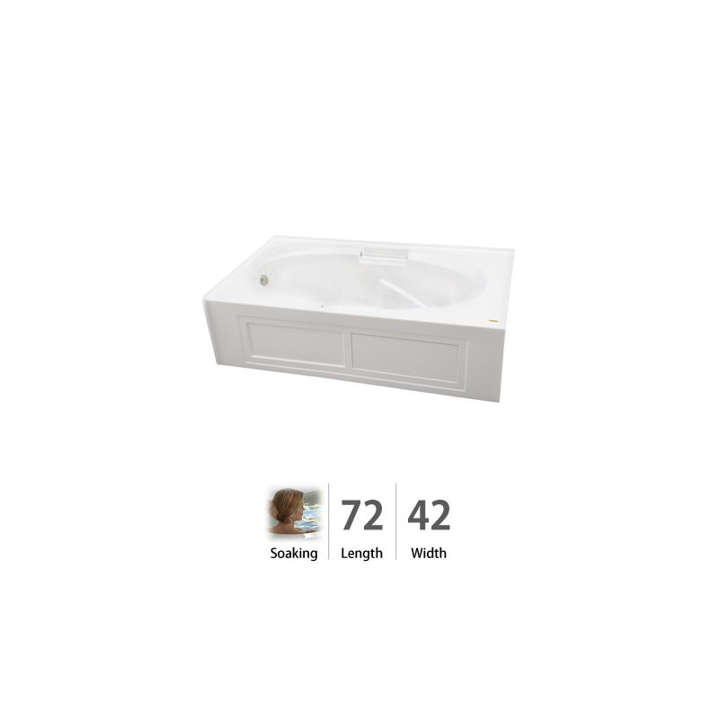 @ 72 X 42 Left Hand Bath With Skirt Majora White