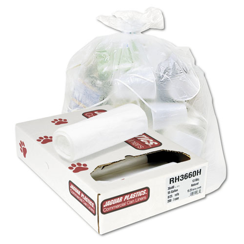 4 Gallon Clear Trash Bags, 17x18, 6mic, 2,000 Bags