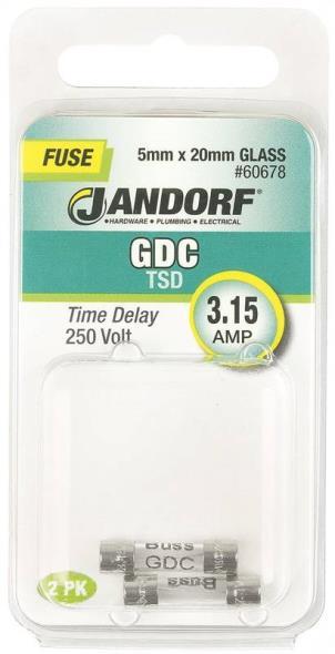 FUSE GDC 3.15A TIME DELAY