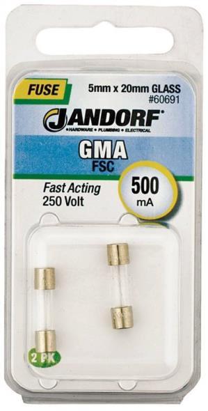 FUSE GMA 500MA FAST ACTING