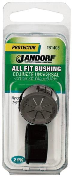 All Fit 61403 Insulated Conduit Bushing, 7/8 X 9/16 in, Nylon