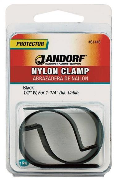 CLAMP NYLON BLK1/2X1-1/4