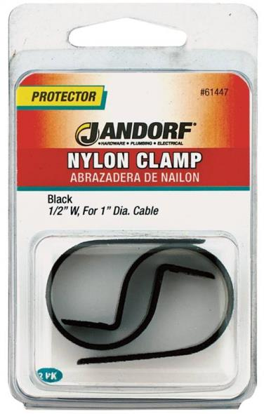 CLAMP NYLON BLK 1/2X1