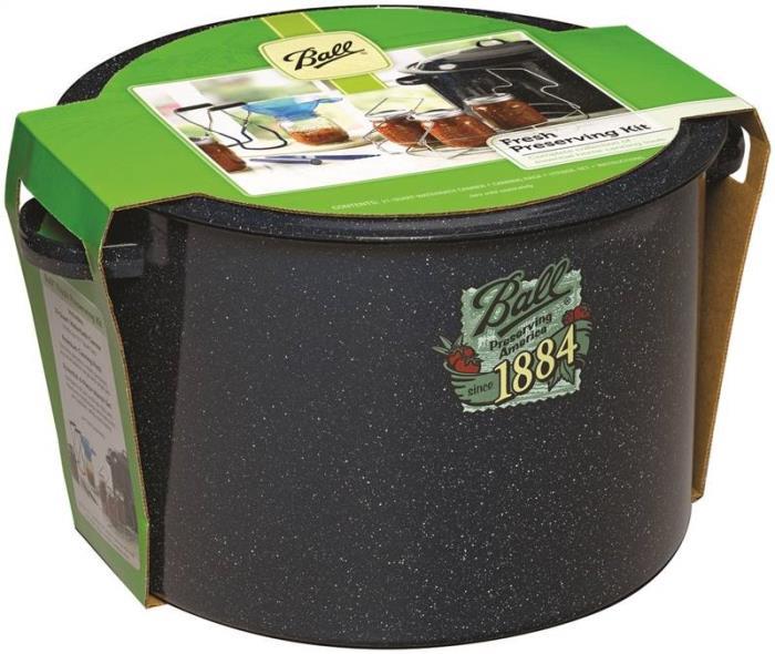 Ball 1440010730 Waterbath Canning Kit, 21 qt, 10 in H x 16 in W x 15 in L, Steel Base, Enamel