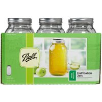 Ball 68100 Wide Mouth Mason Canning Jar, 1/2 gal, 4.4 in L X 9.4 in W X 4.4 in H