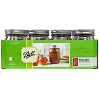 Ball 61000 Regular Mouth Decorative Mason Canning Jar, 1 pt, 3.2 in L X 3.2 in W X 5.2 in H