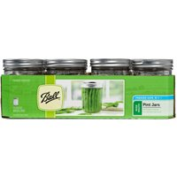 Ball 66000 Wide Mouth Mason Canning Jar, 1 pt, 3-1/2 in L X 3-1/2 in W X 4.9 in H