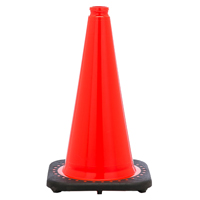JBC Revolution RS RS70032C Wide Body Traffic Safety Cone, 28 in H, PVC, PVC, Fluorescent Orange