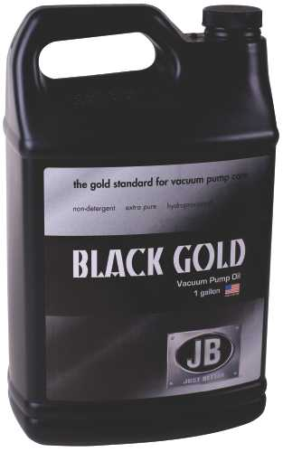 JB INDUSTRIES VACUUM PUMP OIL, BLACK GOLD, 1 GALLON