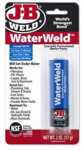 8277 WaterWeld Underwater Epoxy Putty - 2 oz