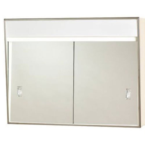 "24"" X 7-3/4"" X 20"" Medicine Cabinet With Sliding Doors and 2 Lights"