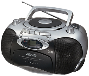 Jensen CD550A Portable Stereo Cd Player With Am/Fm Radio
