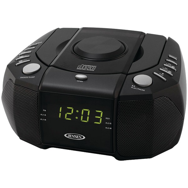 JENSEN JCR310 CLOCK RADIO AM/FM STEREO DUAL ALARM WITH TOP