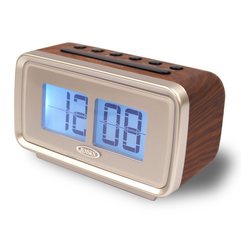 JENSEN JCR232 AM FM DUAL ALARM CLOCK RADIO WITH DIGITAL RETR