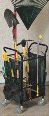 Garden Tool Caddy w/Casters-Black