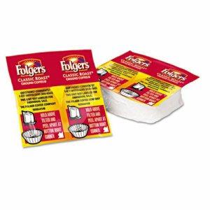 Coffee Premeasured Packs, Classic Roast Regular, 1.05oz Vacket Pack, 42/Carton