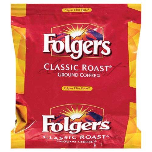 Coffee Filter Packs, Regular, 0.9 oz Filter Pack, 40/Carton