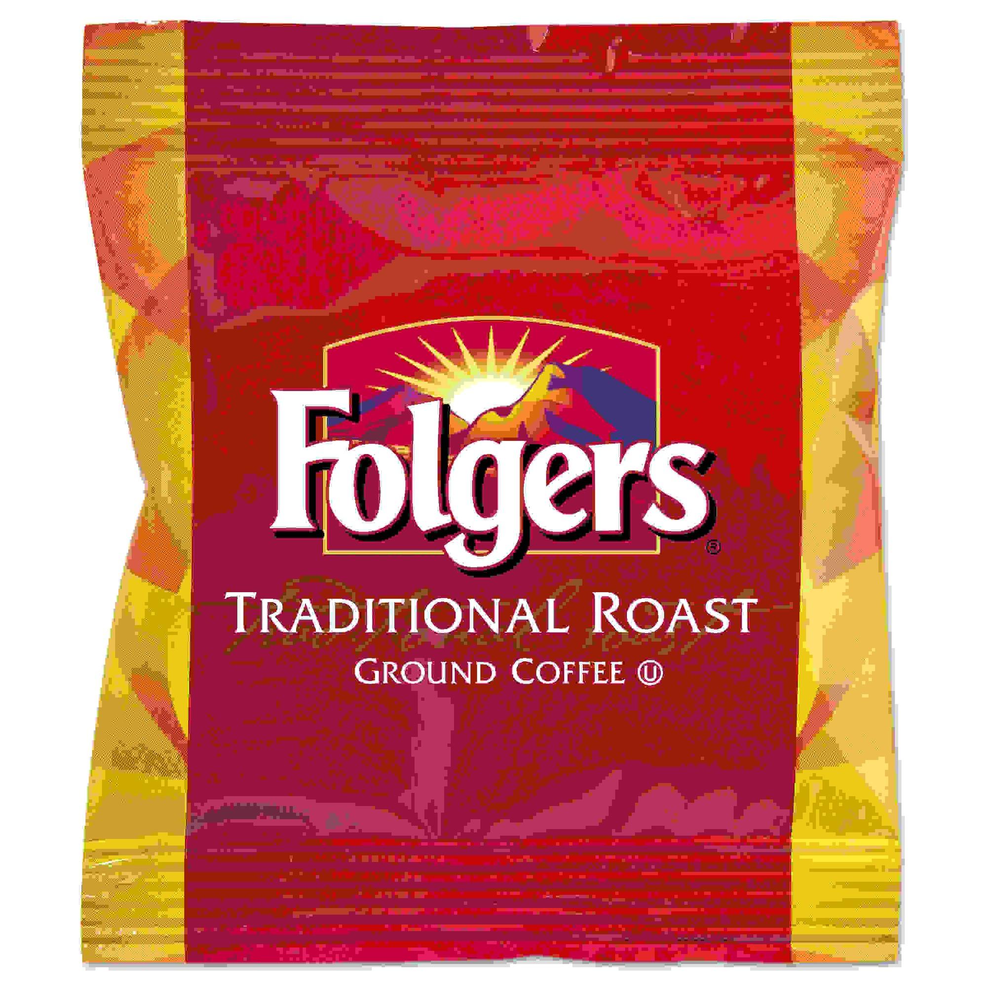 Ground Coffee Fraction Packs, Traditional Roast, 2oz, 42/Carton