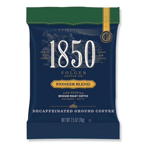 Coffee Fraction Packs, Pioneer Blend Decaf, Medium Roast, 2.5 oz Pack, 24 Packs/Carton