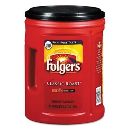 Coffee, Classic Roast, 48 oz Canister, 6/Carton
