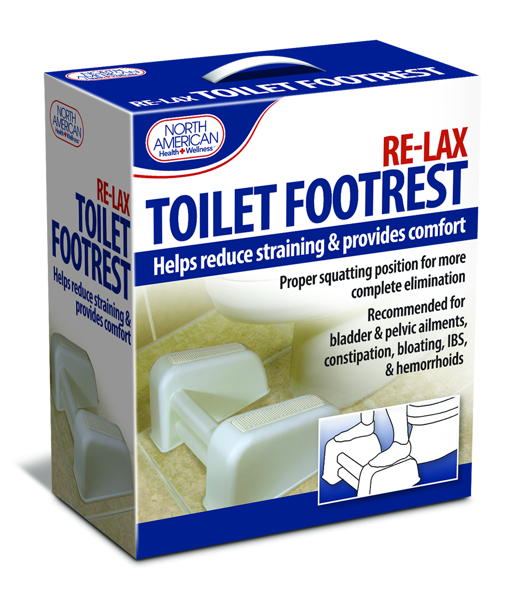 AMERICAN JB6398 RE-LAX TOILET FOOT REST THAT HELPS POSITION