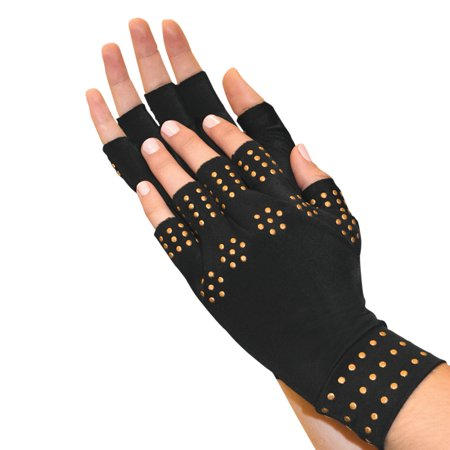 NORTH AMERICAN JB6769R-BLK BLACK MAGNETIC THERAPY GLOVES