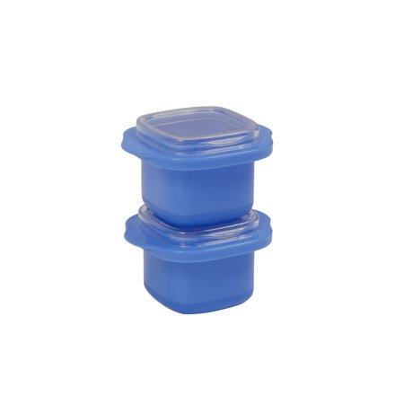 HANDY GOURMET JB8247BLU BLUE SET OF 2 SINGLE ICE CUBE TRAYS.
