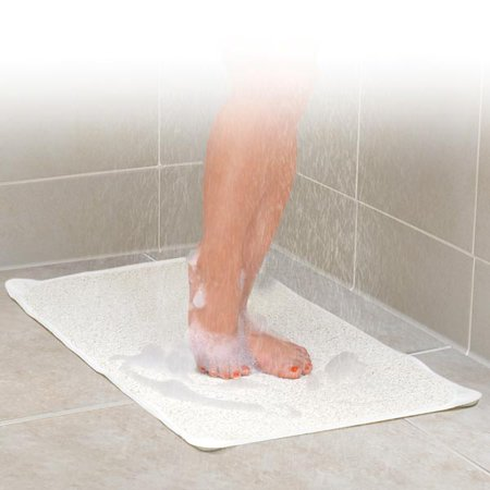 IDEAWORKS JB6707 WHITE HYDRO SHOWER AND BATH RUG
