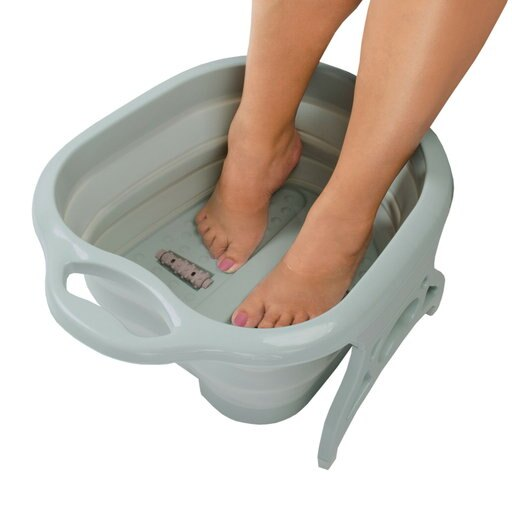 IDEAWORKS JB8384 COLLAPSIBLE FOOT BATH WITH BUILT IN ROLLERS