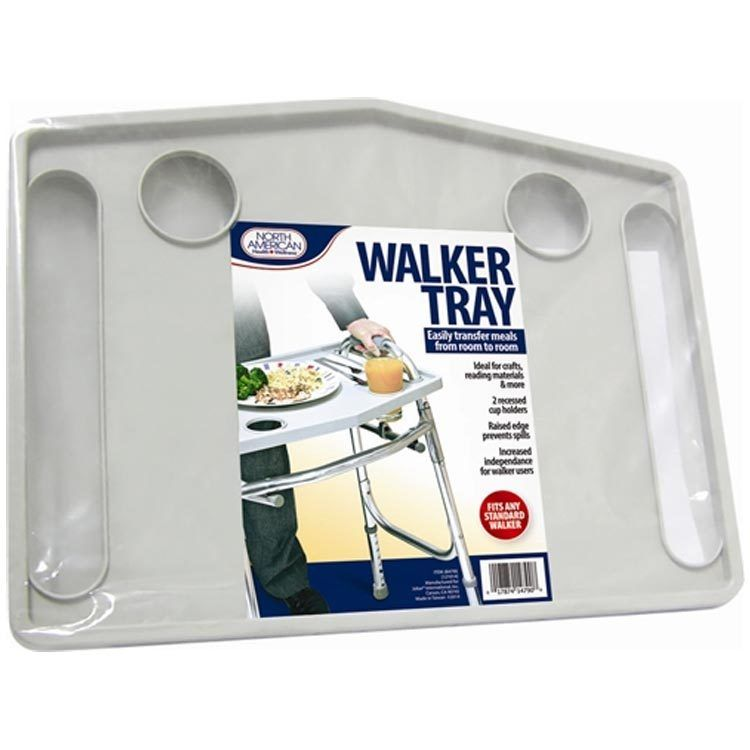 North American Healthcare JB4790 Walker Tray Gray