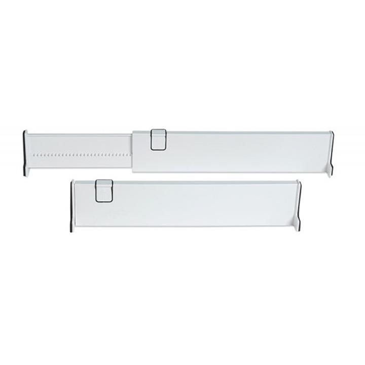 Jobar IdeaWorks S/2 Adjustable Drawer Dividers White
