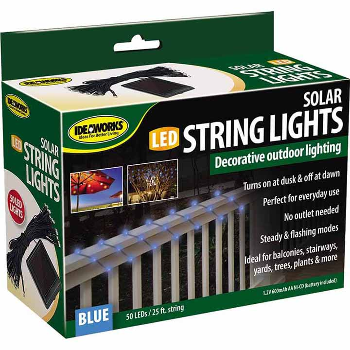 Jobar Ideaworks Solar String Light - Blue