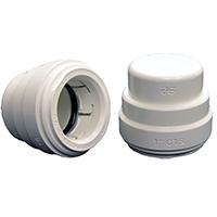Speedfit PSEI4628P Test End Cap, 3/4 in, CTS Push-Fit, White