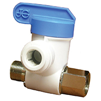 John Guest Speedfit ASVPP2LF Push Fit Angle Stop Adaptor Valve, 3/8 in, Male Compression X Female Compression X Tube OD