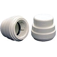 Speedfit PSEI4620P Test End Cap, 1/2 in, CTS Push-Fit, 160 psi, 200 deg F, Polysulfone, White