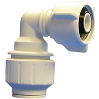 Speedfit PEI Pipe Elbow With EPDM O-Ring, 90 deg, 1/2 in, FNPT, 160 psi, Plastic